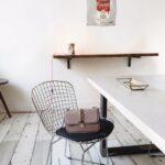 Beton-Esstisch mit Stahlbeinen