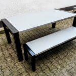 Outdoor Beton-Tisch mit Sitzbank