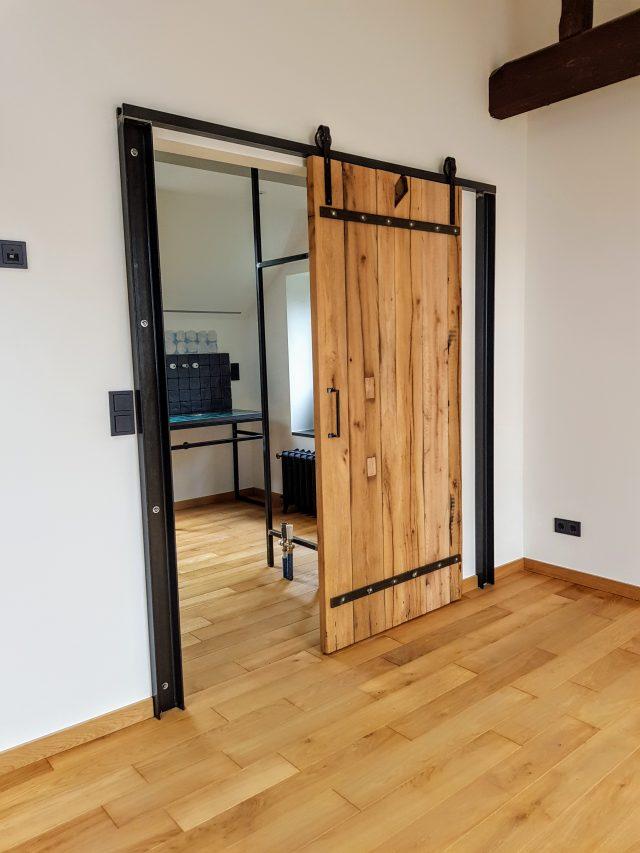 massive holz schiebet r b k design. Black Bedroom Furniture Sets. Home Design Ideas