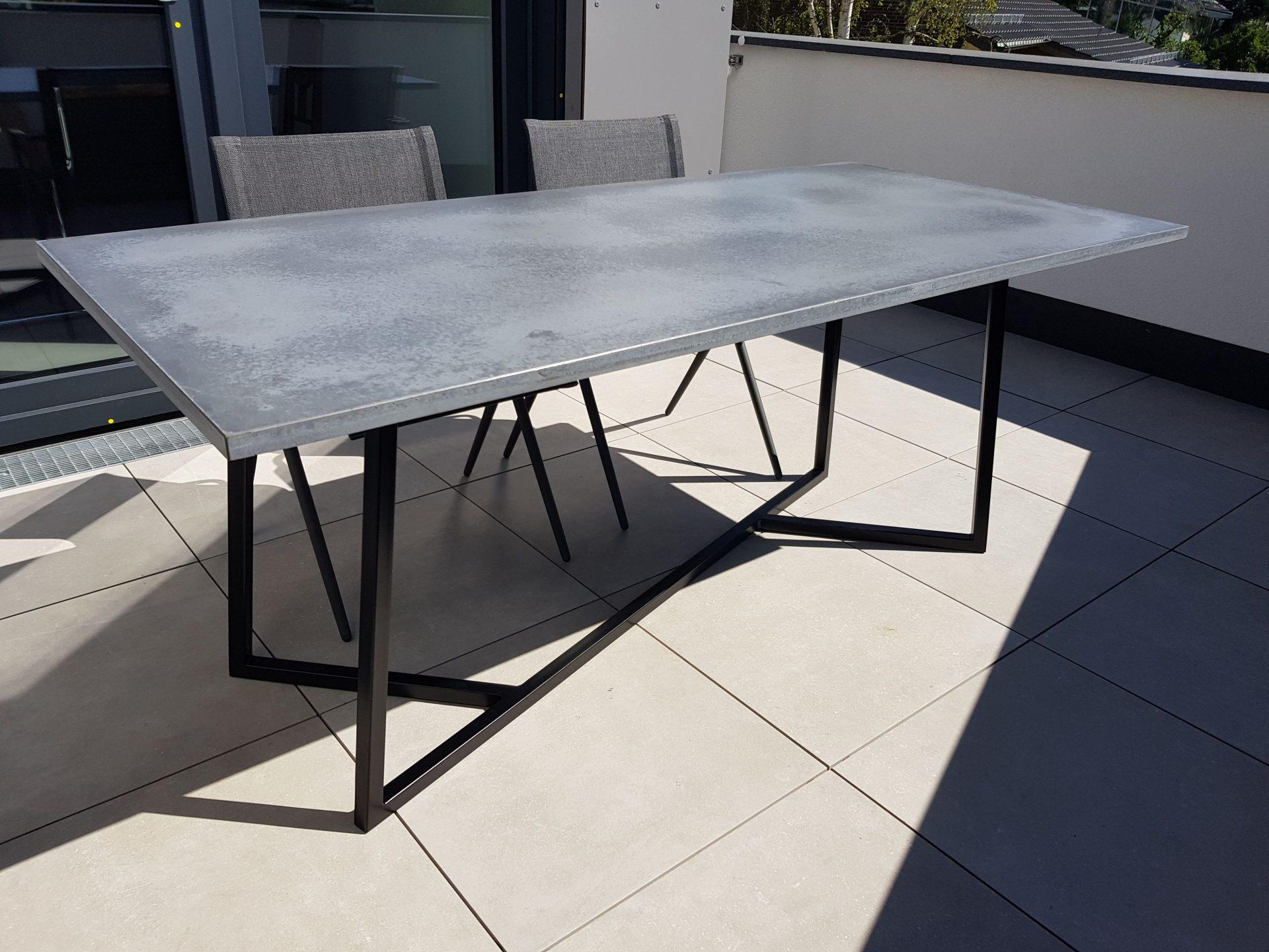 Beton Gartentisch.Beton Gartentisch B K Design