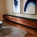Schwebendes Sideboard aus Nussbaum