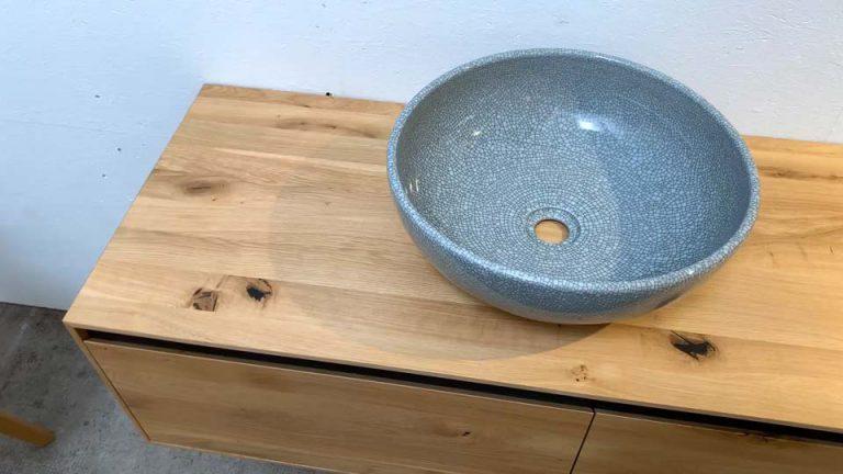 Keramik Waschbecken mit Mosaik Design