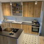 Designküche mit Kochinsel
